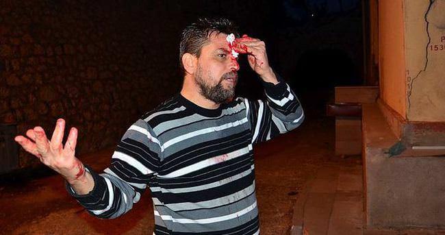 Iraklı'nın kafasında şişe kırdılar