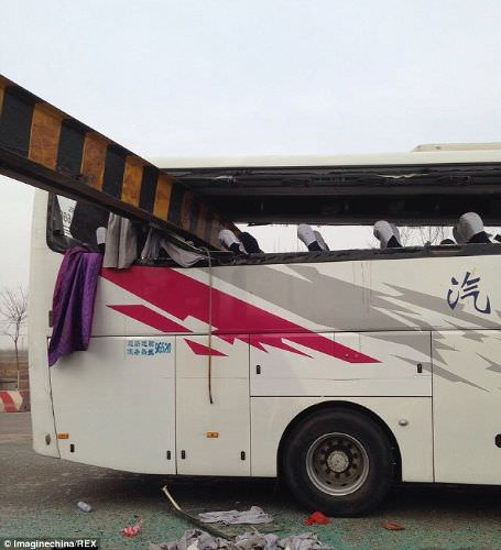 Çin'de akılalmaz otobüs kazası