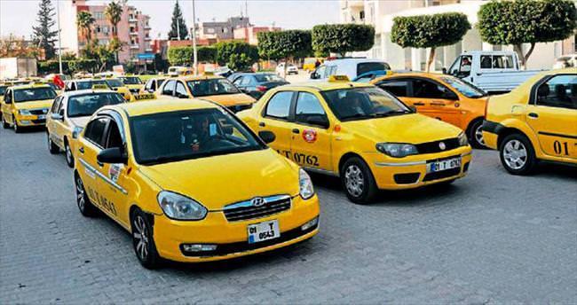 Taksicilerin kurşun eylemi