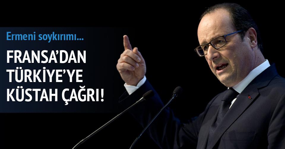 Hollande'dan Türkiye'ye küstah soykırım çağrısı