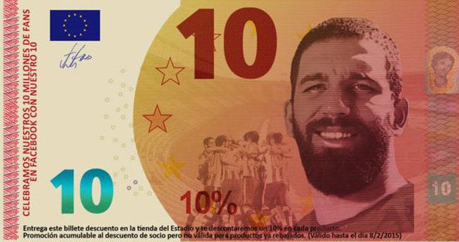 Arda Turan banknotu