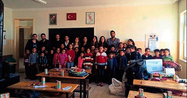 HKÜ köy okuluna yardım eli uzattı
