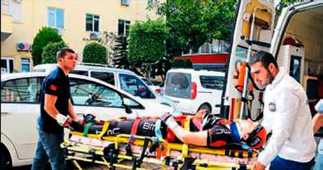 Ukraynalı bisikletçi az daha ölüyordu