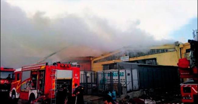 Keresteciler'de yangın paniği