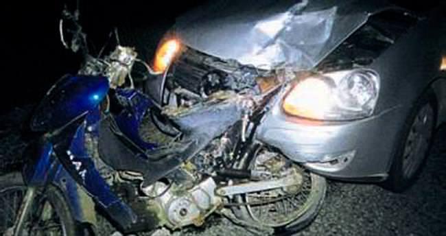 Yine motosiklet yine ölümlü kaza