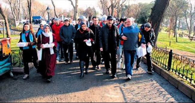 Emirgan'da, Sağlık Bakanı'yla yürüyüş