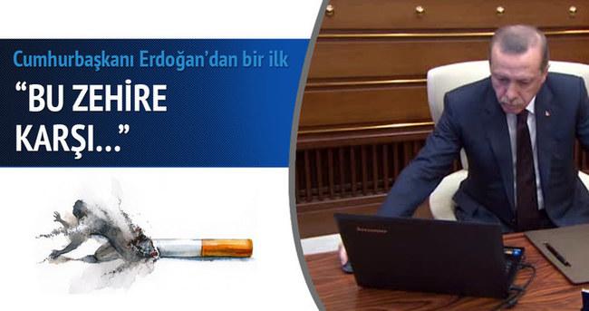 Cumhurbaşkanı Erdoğan attığı tweetlerle sigara tiryakilerini uyardı