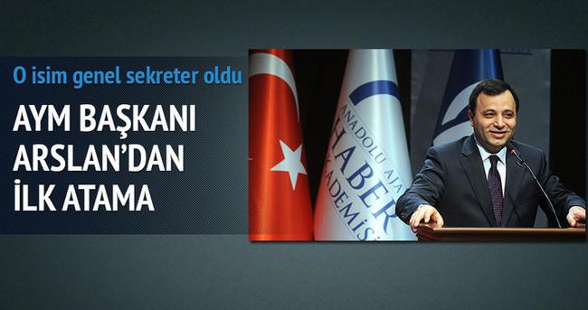 AYM Başkanı Zühtü Arslan'dan ilk atama