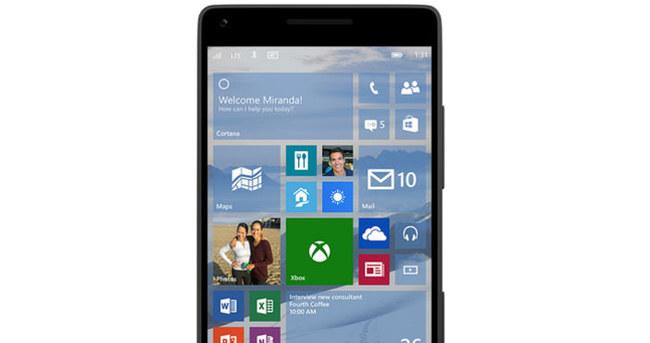 Windows 10, telefonlar için çıktı