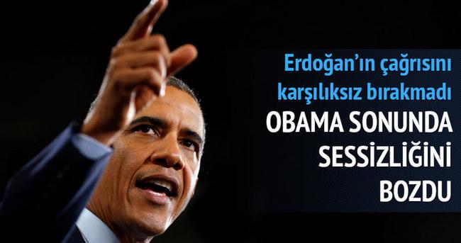 Obama sonunda konuştu