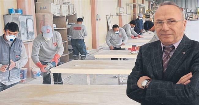 Taştan mobilya yaptı Kuzey Avrupa'ya sattı