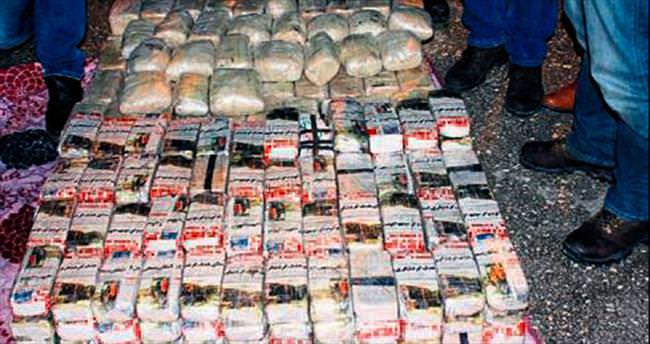 TIR'ın dorsesinde 203 kilo eroin