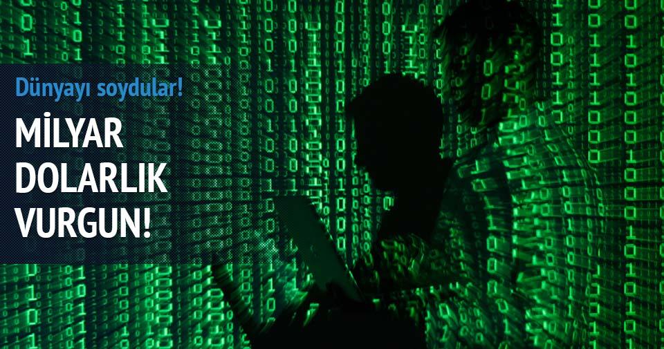 Siber saldırılarla milyar dolarlık soygun
