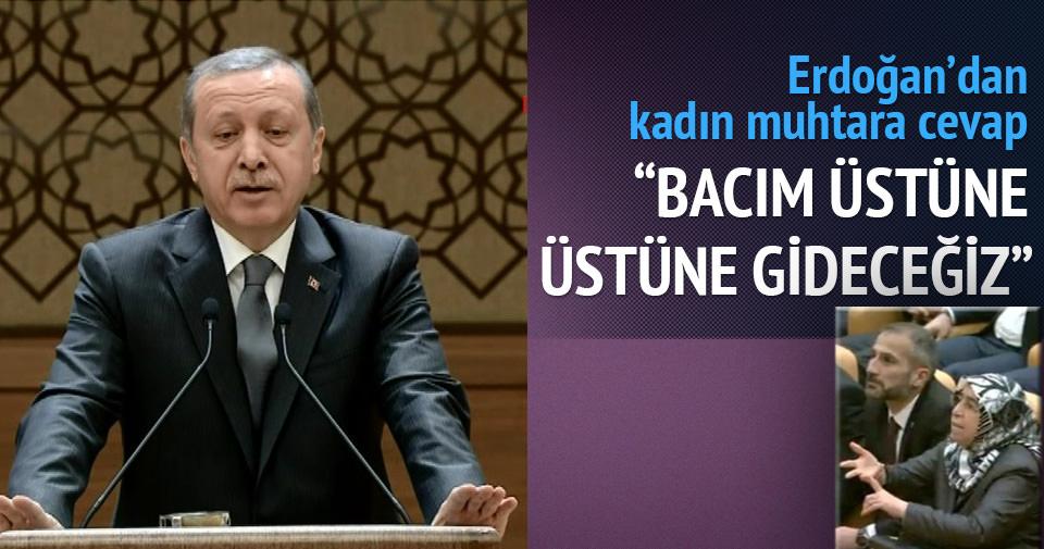 Erdoğan'dan kadın muhtara cevap