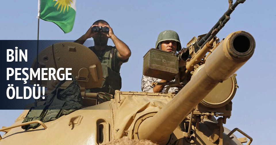 IŞİD'le savaşta bin Peşmerge öldü!