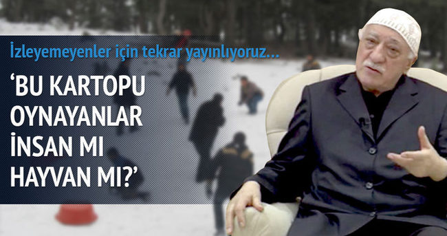 Fethullah Gülen: Bunlar insan mı acaba hayvan mı