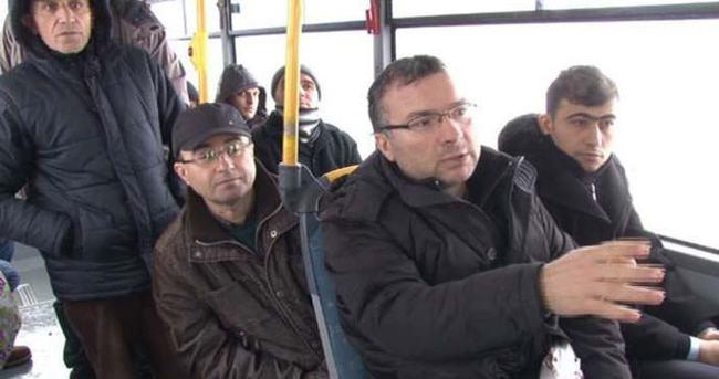 Otobüste 5 saat mahsur kaldılar
