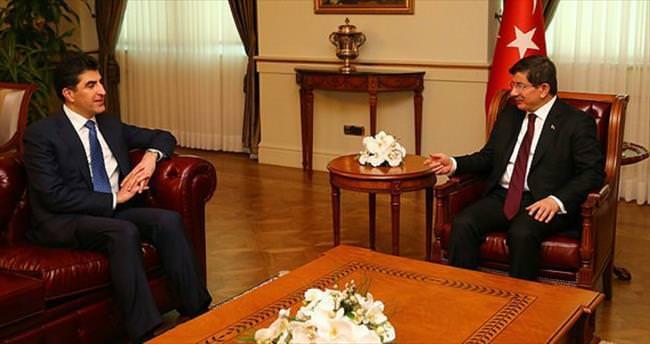Davutoğlu Barzani'yle görüştü