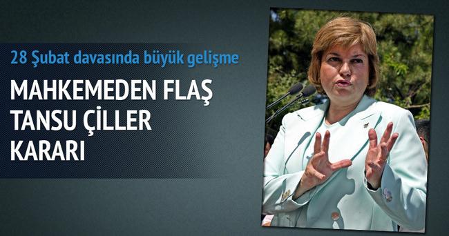 Mahkemeden flaş Tansu Çiller kararı!