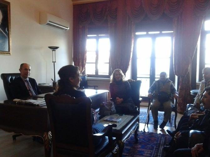 Ayvalıkta Boed'in Yeni Yönetiminden Kaymakam Nazlı'ya Ziyaret