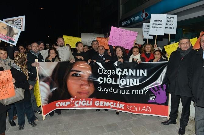 Çiğli'de Özgecan Protestosu
