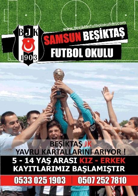 Samsun'da Beşiktaş Futbol Okulu Açılıyor