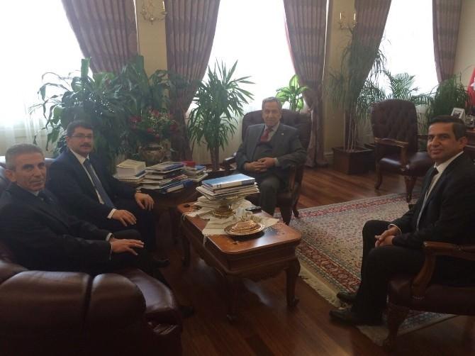 Başkan Çelik Ve Ziraat Odası Yöneticileri Ankara'da Başbakan Yardımcısı Arınç'la Buluştu