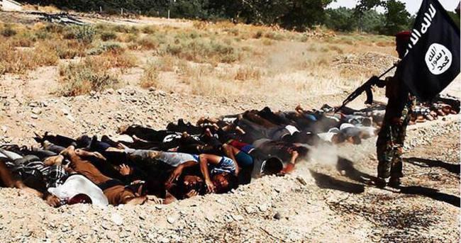 IŞİD'den yine kan donduran görüntüler