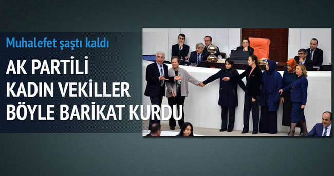 AK Partili kadın vekilleri ele ele tutuşunca muhalefet şaştı