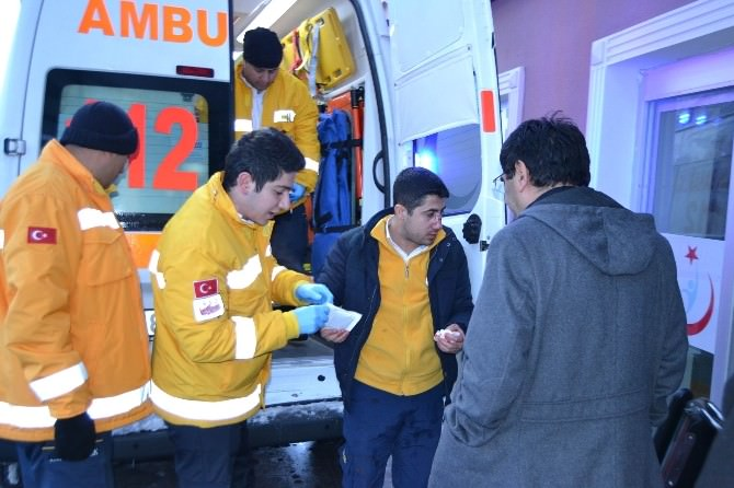Görevden Dönen Ambulans Kaza Yaptı: 1 Yaralı