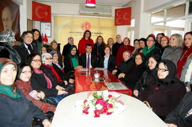 MHP Bandırma Kadın Kolları'nda Görev Değişikliği