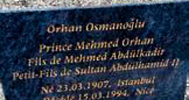 Şehzade için mezar taşı dikildi