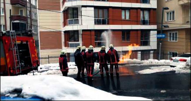 Şişli'de doğalgaz yangını paniği