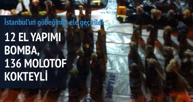 Beyoğlu'nda 12 bomba ile 136 molotof ele geçirildi