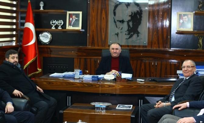 Ahmet Okur'dan Çağlayan'a Ziyaret