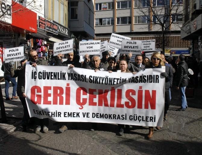 Eskişehir'de İç Güvenlik Yasası'na Tepki Yürüyüşü