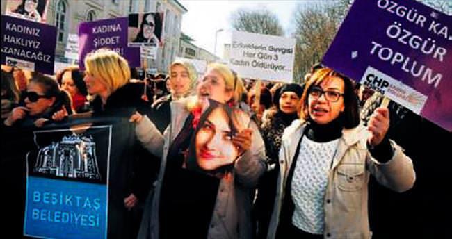 Beşiktaş'ta kadınlar Özgecan için yürüdü