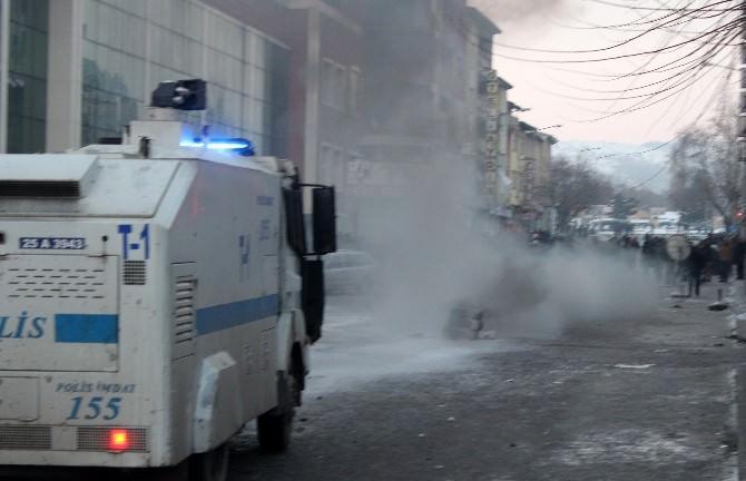 Erzurum'da Terör Örgütü Yandaşları Olaylar Çıkardı: 6 Yaralı