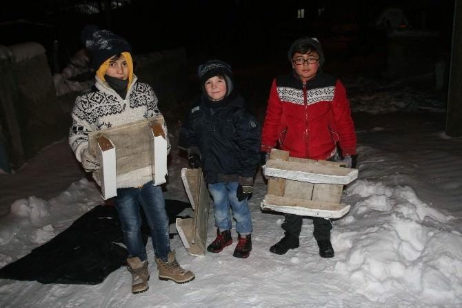 Yozgat'ta Çocukların Kızak Keyfi