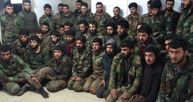 Rejim güçleri içinde Hizbullah militanları