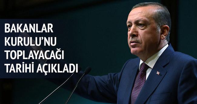 Erdoğan tarih verdi, Saray'da ikinci kabine toplantısı