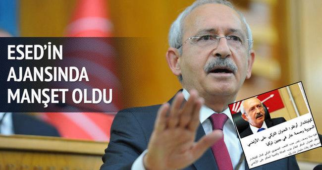 Kılıçdaroğlu Esad'ın ajansında manşet oldu