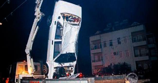 Otomobil DSİ kanalına uçtu