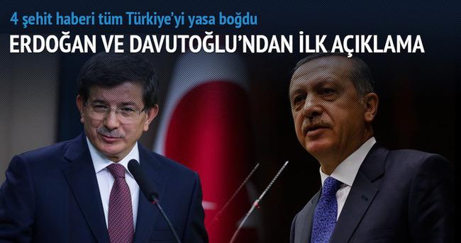 Erdoğan ve Davutoğlu'ndan ilk açıklama