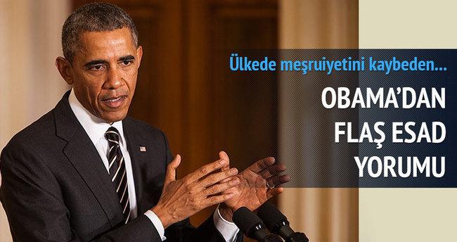Obama: Esad iktidardan gitmeden Suriye istikrara kavuşmaz