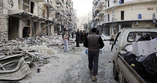 Hava saldırıları Halep'e büyük hasar verdi