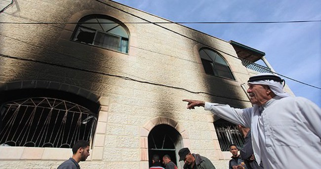 Batı Şeria'da cami kundaklandı!