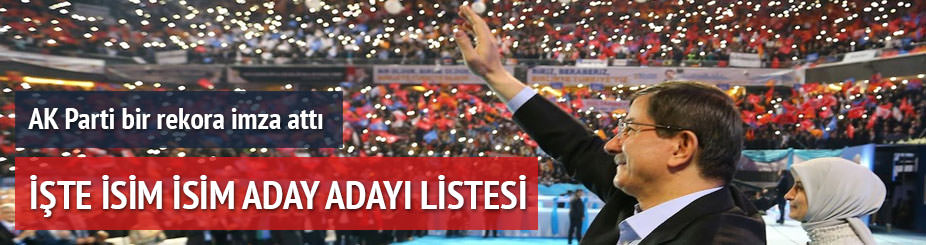 AK Parti'nin İstanbul'daki 1165 aday adayı