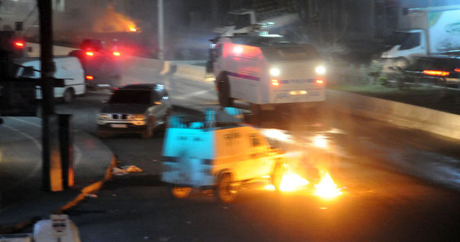 Cizre'de izinsiz gösteriye polis müdahale etti