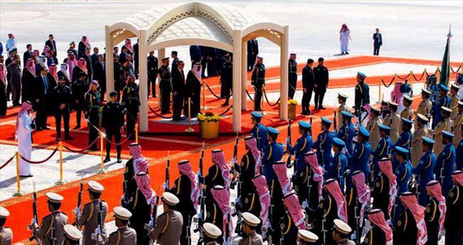Erdoğan'a kral karşılama